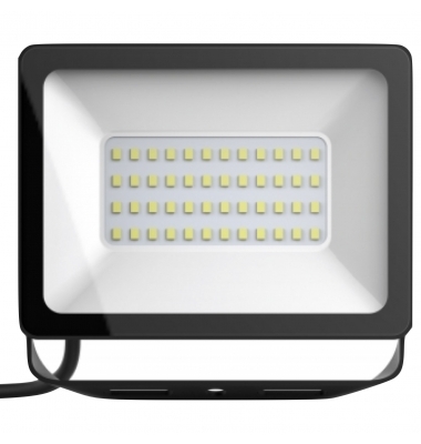 Foco Proyector Tablet, Negro Mate, LED Epistar 50W. Exterior, IP67