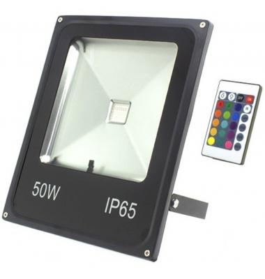 Foco Proyector RGB Ninbo, LED 50W. Exterior, IP65,