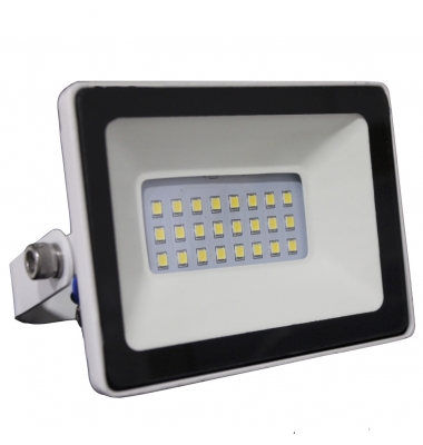 Foco Proyector Tablet, Blanco Mate, LED Epistar 10W, Exterior, IP67