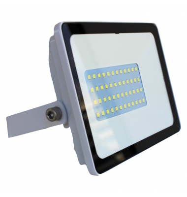 Foco Proyector Tablet, Blanco Mate, LED Epistar 20W, Exterior, IP67