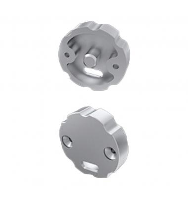 Tapa para Regulación Aluminio. Con Agujero, Perfil Closet