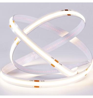 Tira LED COB Monocolor 10W, 24V. 100LM/W, Carrete 5 metros, Interior, IP20N