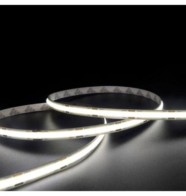 Tira LED COB Monocolor 15W, 24V. 100LM/W, Carrete 5 metros, Interior, IP20N