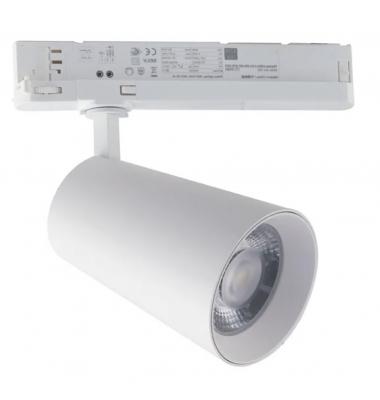 Foco Carril KONE ,Negro Mate, LED COB 30W, 3 encendidos, Ángulo 38º, Temperatura CCT