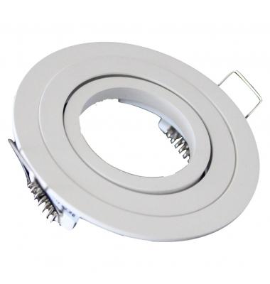 Foco Empotrable Hoste, IP20, Basculante. Blanco Mate, Para Bombillas LED GU10