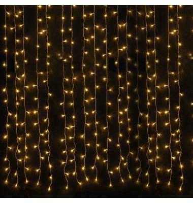 Cortina Luminosa 36W . 3 x 6 metros. Luz cálida. 300 LEDs