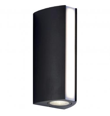 Aplique de exterior LED Ray, acabado en Antracita, difusión de luz superior, inferior y frontal 14W IP54