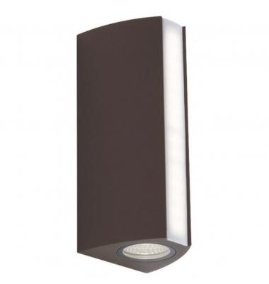 Aplique de exterior LED Ray, acabado en Bronce , difusión de luz superior, inferior y frontal 14W IP54