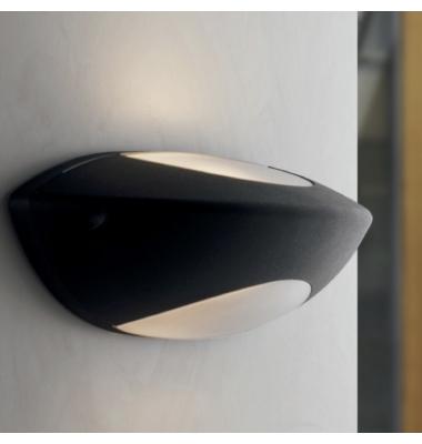 Aplique de exterior SEATTLE de aluminio con difusor opal 1xE27 IP54
