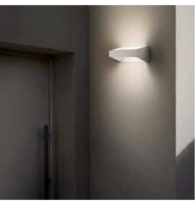 Aplique de Pared LED, Mercury, Blanco Relieve 6W, 630lm. Ángulo 120º, Blanco Cálido de 3000k. Exterior, IP54