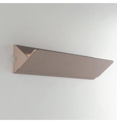Aplique LED de Pared AILERON,difusión de luz superior e inferior,banda oscilante,de 10W 4000K . En aluminio bronce arenoso.