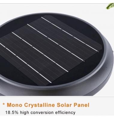 Baliza Solar Jardin, Faro, LED, 6W. Blanco Natural de 4000k, Exterior, IP65, Acabado Nero