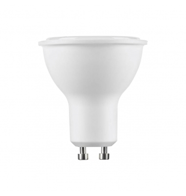 Bombilla LED GU10, 7W. Blanco Cálido de 3000k. 560 Lm. Ángulo 38º