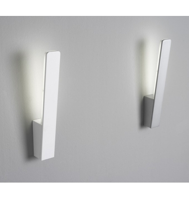 Plata y Blanco. Aplique Pared LED Interior 6W Stick I