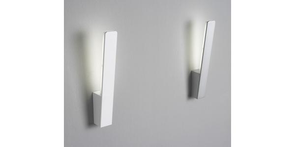 Plata y Blanco. Aplique Pared LED Interior 6W Stick I