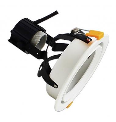 Downlight LED Kira, PAR30 24W, Blanco Neutro de 4000k, IP40, Ángulo 60º, Orientable y ajustable en altura