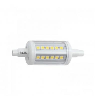 Bombilla LED R7s 78mm. 8W, 1055 Lm. Ángulo 330º, Blanco Cálido de 2700k