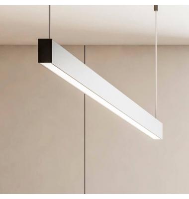 Colgante LED Infinity de 1.30 metros. 40W, 3.970 Lm. Regulabe Triac, Blanco Cálido de 3000k. Acabado Negro Mate