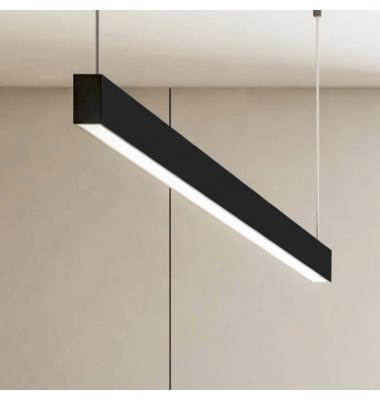 Colgante LED Infinity de 1.20 metros. 48W, 4260 Lm. Regulabe Dali Push, Blanco Cálido de 2700k. Acabado Negro Mate