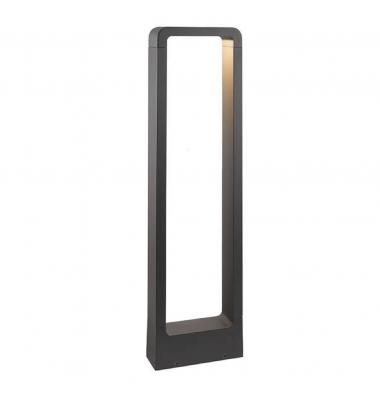 Baliza Suelo Exterior LED MASAI, 12W. 850 Lm. Negro Mate, IP54, Blanco cálido de 3000k