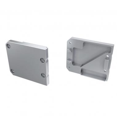 Tapa Lateral Derecha Cerrada de Aluminio, Perfil STUDIO