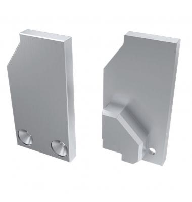 Tapa Lateral Cerrada de Aluminio, Perfil LABEL, Vidrios-Metacrilato 6mm