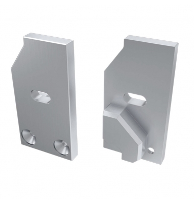 Tapa Lateral Abierta de Aluminio, Perfil LABEL, Vidrios-Metacrilato 6mm