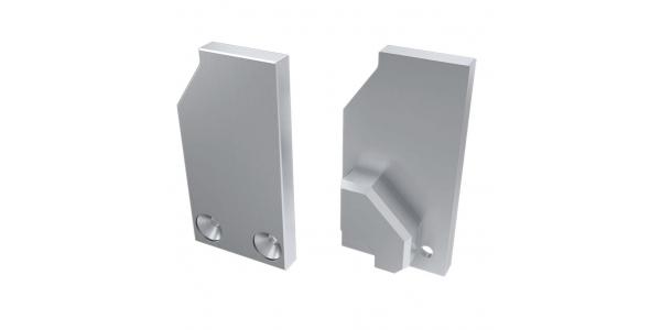 Tapa Lateral Cerrada de Aluminio, Perfil LABEL, Vidrios-Metacrilatos 8mm