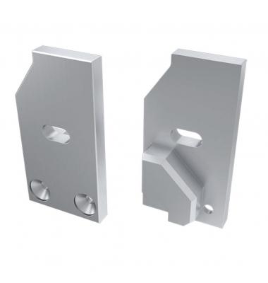 Tapa Lateral Abierta de Aluminio, Perfil LABEL, Vidrios-Metacrilatos 8mm