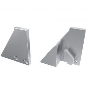 Soporte Lateral Cerrado de Aluminio, Perfil LABEL, Vidrios-Metacrilatos 6mm