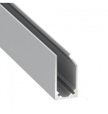 Perfil Aluminio LABEL de 1 metro para Estanterías y Rotulación, Vidrios y Metacrilatos de 10mm