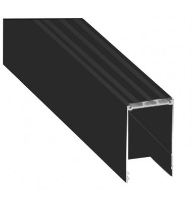 Perfil Aluminio INFINITY de 2.02 metros. Colgantes, Hasta 3 Tiras LED de 10mm