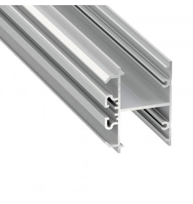 Perfil Aluminio HALL de 1 metro, para Paredes en Superficie y Colgantes, Acabado Blanco
