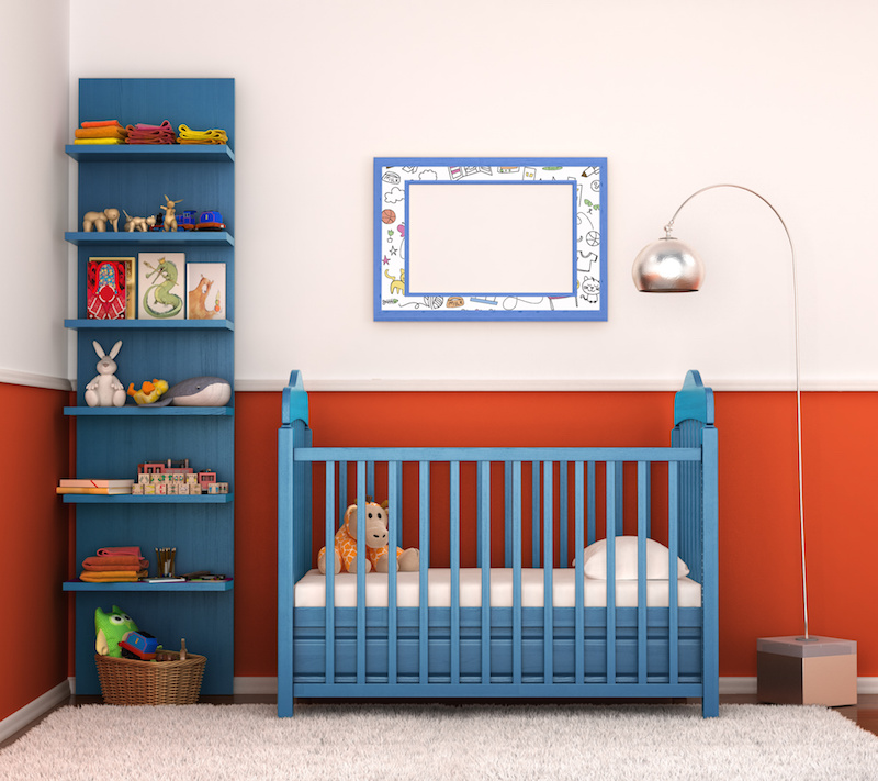 iluminación led para la habitación del bebé