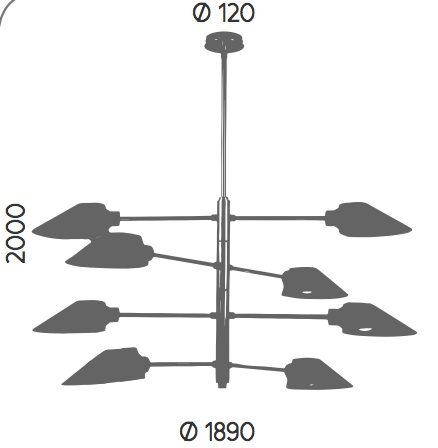 Dimensiones Lámpara