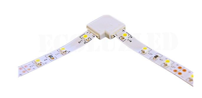 Conector giro 2 tiras LED