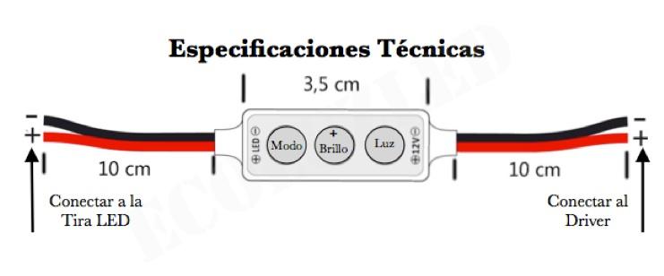 Especificaciones Controlador.
