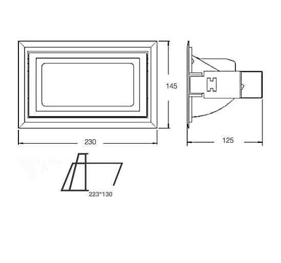 Dimensiones Proyector 35W