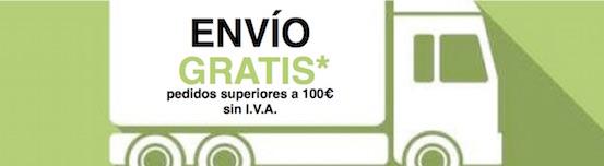 Envío gratis pedidos superiores s 100 euros