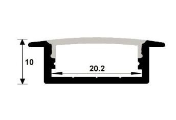 Dimensiones Perfil de empotrar Doble
