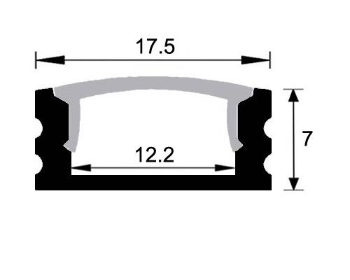 Perfil aluminio superficie