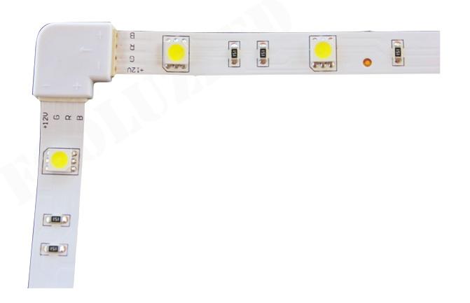 Conector Giro con tira RGB