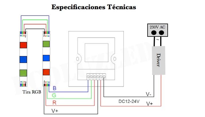 Especificaciones WiFI RGB